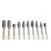 ชุดมีดแกะสลัก 3 mm*6 mm tungsten carbide rotary burrs milling cutter for Rotary Tools and Dremel Too