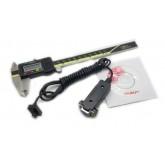0-150mm ดิจิตอล vernier caliper กับ RS232 (9holes) DataLink ส่งออก + ซอฟต์ สามารถเชื่อมต่อกับคอมพิวเ