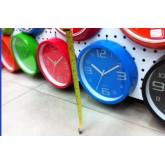 นาฬิกาแขวนติดผนัง-กลม 19.5ซม. ขอบสีสันหรือหน้าปัดลายมีสีสัน