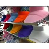 หมวกกันแดด-เรียบ-ยางยืด24x27cm