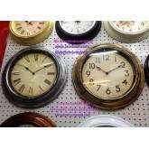 นาฬิกาแขวนติดผนัง 45ซม.รุ่นกลมขอบหนาVintage เลขอารบิกและเลขโรมัน(โรมันหมดค่ะ)