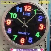 นาฬิกาแขวน LED 25cm (801) ใช้ได้ทั้งแบตเตอรี่ไฟบ้าน มองง่ายเห็นชัดเจนทั้งในที่มืดและที่สว่าง