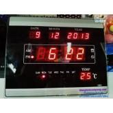 นาฬิกาดิจิตอล LED  23x18ซม.(188A) ได้ทั้งแขวนและตั้งบนชั้น,ใช้ไฟบ้าน