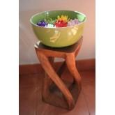 โต๊ะวางแจกันดอกไม้ สไตล์เก๋ ทำจากไม้เนื้อแข็ง(ขายเฉพาะโต๊ะนะครับ แจกันไม่ขาย)
