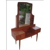 โต๊ะเครื่องแป้งไม้สักโบราณ สไตล์เรโทร ขาทีวี