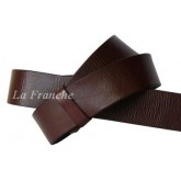 เข็มขัด Handmade ลายหนังธรรมชาติ สีน้ำตาล, กว้าง 1.5 นิ้ว - code 5a00102