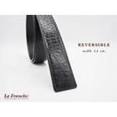 3.4 cm. Reversible Croco Black  (Code: 34M0202)