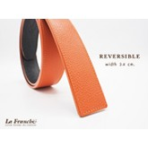 3.4 cm. Reversible Pebble Orange  (Code: 34M0209)