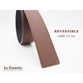 3.9 cm. Reversible Nappa Brown  (Code: 39M0201)