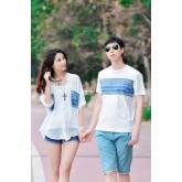 DL5707007 เสื้อคู่รักแต่งลายคลาสสิค  เวอร์ชั่นสาวเกาหลี (พรีออเดอร์)รอ 3 อาทิตย์หลังชำระเงิน
