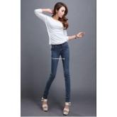 5702008 กางเกงยีนส์ แฟชั่นสาวเกาหลี (พรีออเดอรื) รอสินค้า 3 อาทิตย์หลังชำระเงินค่ะ