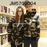 JM5709004 เสื้อแจ็กเก็ตชาย+หญิง ลายพราง มีฮูด แฟชั่นเกาหลี (พรีออเดอร์) รอ 3 อาทิตย์หลังชำระเงิน