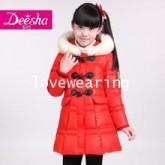 DM5710018 เสื้อโค้ทเด็กผู้หญิงเกาหลี คอกลม กระดุมหน้า ผ้าผสมขนสัตว์ อบอุ่นมาก (พรีออเดอร์)