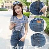 OW5710007 เอี้ยมกางเกงยีนส์สาวเกาหลี  คาบอย  (พรีออเดอร์) รอ 3 อาทิตย์หลังโอนเงิน