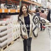 QW5710006 เสื้อคลุมกันหนาว ไหมถัก  ย้อนยุค เกาหลี(พรีออเดอร์) รอ 3 อาทิตย์หลังโอนเงิน