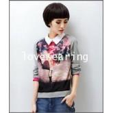 GW5712013 เสื้อเชิ้ตสาวเกาหลี พิมพ์ลายคลาสสิค (พรีออเดอร์)รอสินค้า 3อาทิตย์หลังโอนเงิน