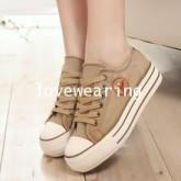 TW5801007 รองเท้าผ้าใบแฟชั่นเกาหลี (พรีออเดอร์) รอ 3 อาทิตย์หลังโอนเงิน