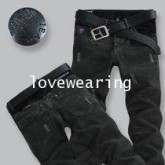 YM5805006 กางเกงยีนส์ชายฮ่องกง Lexy สีดำ (พรีออเดอร์) รอ 3 อาทิตย์หลังโอนเงิน