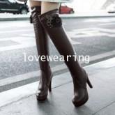 YW5810005 รองเท้าบูทฤดูหนาว มีส้นยาวที่เข่า (พรีออเดอร์) รอ 3 อาทิตย์หลังโอนเงิน