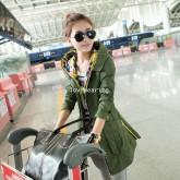 CW5810003 เสื้อโค้ทแฟชั่นสาวเกาหลี มีฮูด แขนยาวกึ่งเสื้อคลุมผ้าฝ้าย (พรีออเดอร์) รอ 3 อาทิตย์หลังโอน