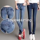 JW5906011 กางเกงยีนส์ ขาเดปเข้ารูป แฟชั่นสาวเกาหลี (พรีออเดอร์) รอสินค้า 3 อาทิตย์หลังโอนเงิน