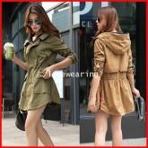CW5709023 เสื้อแจ็กเก็ต ผ้าฝ้าย มีฮูด ซิปหน้า สไตร์เกาหลี (พรีออเดอร์) รอ 3 อาทิตย์หลั