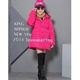 DM5909011 เสื้อโค้ทเด็กผู้หญิงเกาหลี มีฮูดแต่งเฟอร์ขน ซิปหน้า ผ้าผสมขนสัตว์ อบอุ่นมาก(พรีออเดอร์) รอ