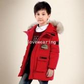 DM5909013 เสื้อโค้ทเด็กผู้ชายเกาหลี มีฮูดแต่งเฟอร์ขน ซิปหน้า ผ้าผสมขนสัตว์ อบอุ่นมาก (พรีออเดอร์) รอ