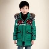 DM5909014 เสื้อโค้ทเด็กผู้หญิงเกาหลี มีฮูด ซิปหน้า ผ้าผสมขนสัตว์ อบอุ่นมาก (พรีออเดอร์) รอ 3 อาทิตย์