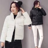 CW5909016 เสื้อโค้ทผู้หญิงหวานเกาหลีตัวสั้นสไตร์เสื้อแจ๊กเก็ต(พรีออเดอร์) รอ 3 อาทิตย์หลังโอนเงิน