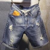 AM5909012 กางเกงยีนส์ชายขาสั้นขาดเซอร์ แฟชั่นเกาหลี (พรีออเดอร์) รอ 3 อาทิตย์หลังชำระเงิน