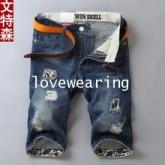 AM5909016 กางเกงยีนส์ขาสั้นผู้ชาย แฟชั่นเกาหลี 28-36 (พรีออเดอร์)รอสินค้า 3 อาทิตย์หลังชำระเงิน