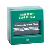 กล่องไฟอราม Emergency Door Releasequot; Break Glass GREEN ขายปลีก/ ขายส่ง