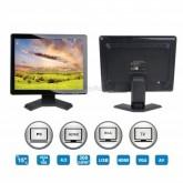 LCD Monitor 15 inch USB/AV/BNC/PC/TV/Audio/ พร้อมอุปกรณ์ รับประกัน 1ปี
