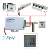 Power Supply Control Output 12V 3A ใช้กับประตู และอื่น ๆ