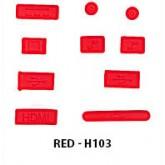 จุกกันฝุ่น Antidust macbook retina 13 15, Air 11,13 สีแดง