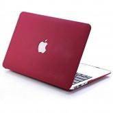 Vela เคสแข็งสีชมพูอ่อน แบบเนื้อทราย เจาะโลโก้ macbook Air 11
