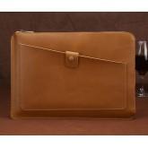 กระเป๋า ซองหนัง สำหรับเครื่อง Macbook Pro 13 (รุ่นมีที่ใส่ CD) - สีน้ำตาล