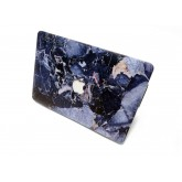 เคส Macbook ลายหินอ่อน แบบเจาะโลโก้ เครื่อง Macbook Pro Retina13 รุ่นเก่า - Blue Stone Marble