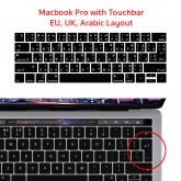 แผ่นกันรอยคีย์บอร์ด Layout ยุโรป มีภาษาไทย อังกฤษ สำหรับ macbook pro 13 and 15 inch with touchbar