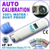 มิเตอร์วัดกรด-ด่าง (pH) และอุณหภูมิ กันน้ำได้ รุ่น AZ-81 ฟรี! Calibrate Solutions 4,7,10