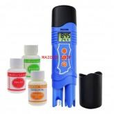 เครื่องวัด EC, pH, อุณหภูมิ แบบ 3in1 หน่วย EC เป็น mS ใช้วัดค่าปุ๋ย A+B, pH ในการปลูกผักไฮโดรโปนิกส์