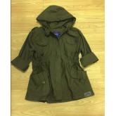 เสื้อคลุม เสื้อแจ็คเก็ต Aoxy สวยเท่ มีฮูท พร้อมส่ง สีเขียวทหาร