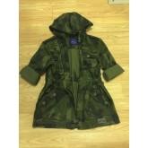 เสื้อคลุม เสื้อแจ็คเก็ต Aoxy สวยเท่ มีฮูท พร้อมส่ง สีเขียวทหารลายพราง