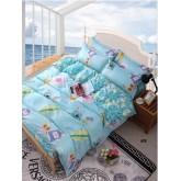 ชุดผ้าปูที่นอนพร้อมผ้าห่มนวม ฟ้าน่ารัก