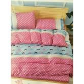 ชุดผ้าปูที่นอนพร้อมผ้าห่มนวม ฟ้าหนวด