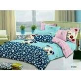 ชุดผ้าปูที่นอนพร้อมผ้าห่มนวม การ์ตูน