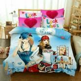 ชุดผ้าปูที่นอนพร้อมผ้าห่มนวม