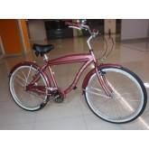 จักรยานครุยเซอร์ CHRYLER เฟรมอลู สีชมพู