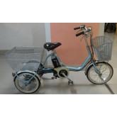 จักรยานสามล้อไฟฟ้า จากญี่ปุ่น เฟรมอลูมิเนี่ยม สีฟ้า  ยี่ห้อ บริดสโตน